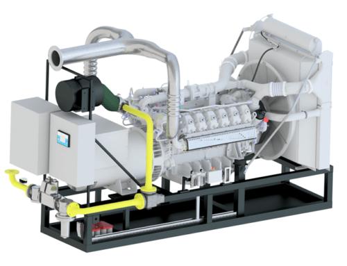 Nový plynový genset 500 kWe