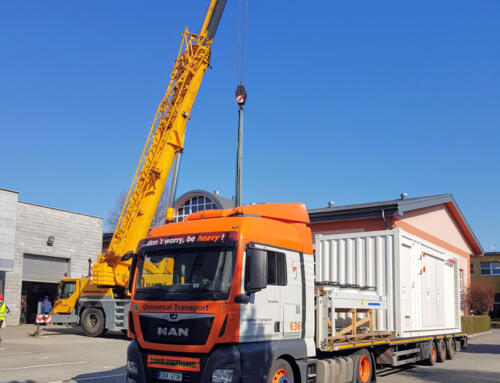 Twins of CHP containers to the Netherlands